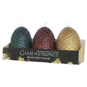 Bougies Sculptées Oeufs de Dragons - Game of Thrones (lot de 3)