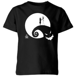 The Nightmare Before Christmas Jack and Sally Moon Kids' T-Shirt - Black