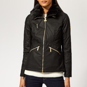 Barbour International Women's Croft Wax Jacket - Black