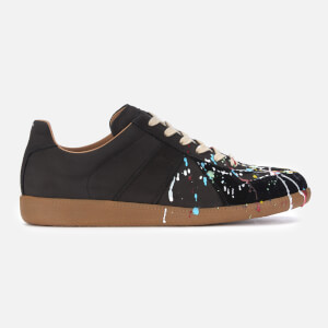 Maison Margiela Men's Paint Replica Trainers - Black/Paint