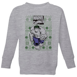 Marvel Avengers Hulk Kids Christmas Sweater - Grey
