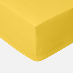 in homeware 200 Thread Count 100% Cotton Fitted Sheet - Yellow