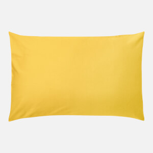 in homeware 200 Thread Count 100% Cotton Pillowcase Pair - Yellow