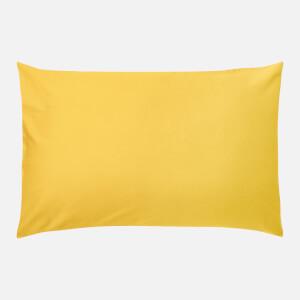 in homeware 200 Thread Count 100% Cotton Pillowcase Pair - Yellow