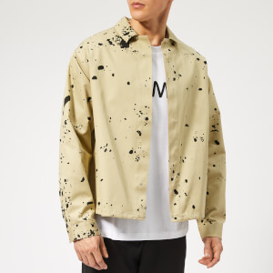 OAMC Men's Splatter Overshirt - Dark Beige