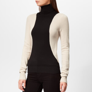 Helmut Lang Women's Colorblock Turtleneck - Black/Nut