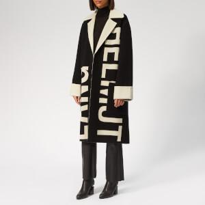 Helmut Lang Women's Logo Coat Large Logo - Black/Natural White