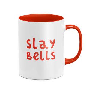 Slay Bells Mug - White/Red