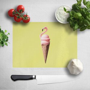 Flamingo Ice Cream Chopping Board