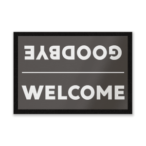 Welcome and Goodbye Entrance Mat