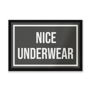 Nice Underwear Entrance Mat