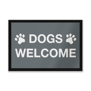 Dogs Welcome Entrance Mat
