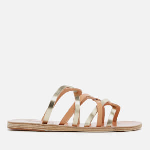 Ancient Greek Sandals Women's Donousa Leather Strappy Sandals - Natural/Platinum