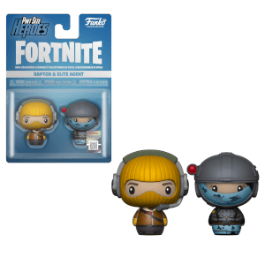 Pack de 2 Figuras Funko Pint Sized Heroes - Raptor y Elite Agent - Fortnite