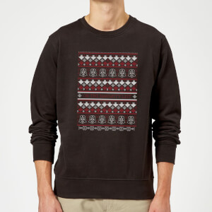 Star Wars On The Naughty List Pattern Pullover - Schwarz