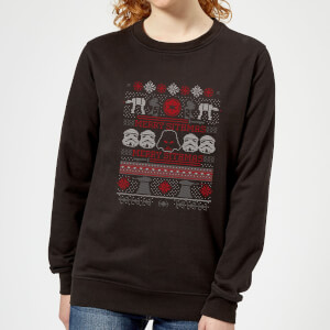Star Wars Merry Sithmas Knit Women's Christmas Sweatshirt - Black