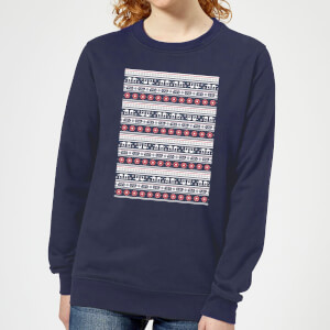 Star Wars AT-AT Pattern Women's Christmas Sweatshirt - Navy