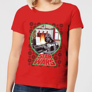 T-Shirt de Noël Femme Star Wars A Very Merry Sithmas - Rouge