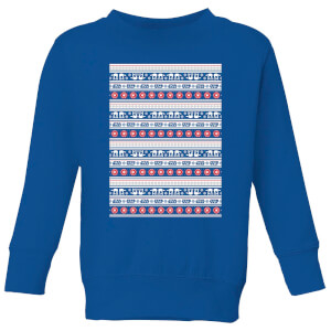 Star Wars AT-AT Pattern Kinder Pullover - Royal Blau