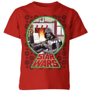 Star Wars A Very Merry Sithmas Kids Christmas T-Shirt - Red