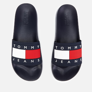 Tommy Jeans Men's Flag Pool Slide Sandals - Midnight