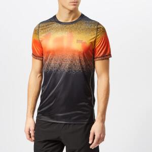 Superdry Sport Men's Active Ombre Short Sleeve T-Shirt - Ink Orange Ombre Splat