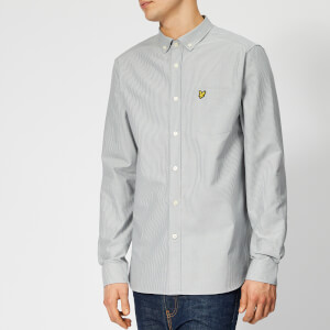 Lyle & Scott Men's Fine Stripe Shirt - Grey Blue