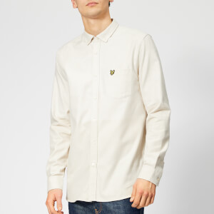 Lyle & Scott Men's Block Marl Shirt - Seashell White