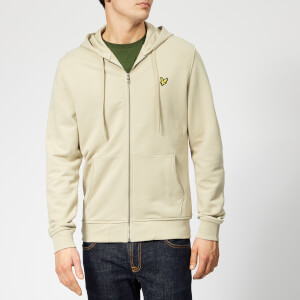 Lyle & Scott Men's Zip Through Hoodie - Green Stone