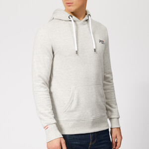 Superdry Men's Orange Label Lite Hoodie - Stadium Grey Grit