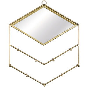 Sass & Belle Gold Diamond Jewellery Holder with Mirror