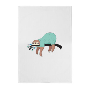 Sleepy Sloth Cotton Tea Towel