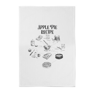 Apple Pie Recipe Cotton Tea Towel