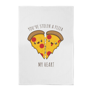 You've Stolen A Pizza My Heart Cotton Tea Towel