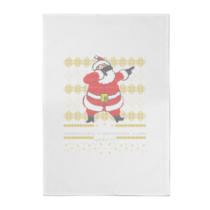 Dabbing Through The Snow Cotton Tea Towel