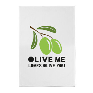 Olive Me Loves Olive You Cotton Tea Towel