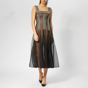 Christopher Kane Women's Crystal Mesh Dress - Black