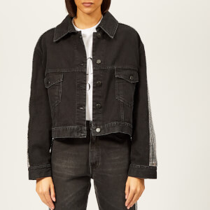 Christopher Kane Women's Crystal Denim Jacket - Black