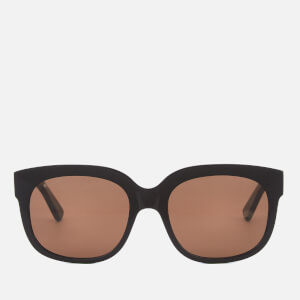 Gucci Women's Large Square Frame Sunglasses - Black
