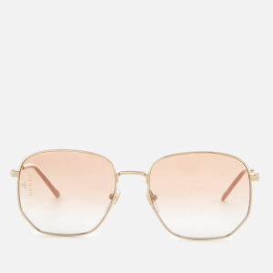 Gucci Women's Metal Square Frame Sunglasses - Gold/Orange