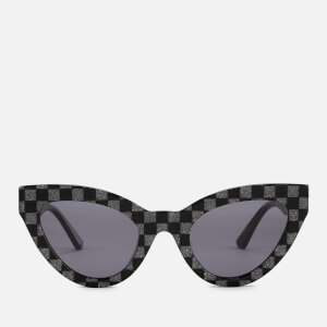McQ Alexander McQueen Women's Printed Cat-Eye Frame Sunglasses - Black