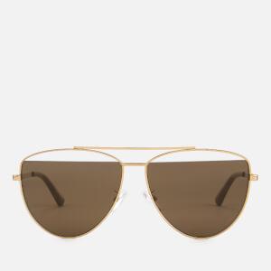 McQ Alexander McQueen Women's Metal Aviator Style Sunglasses - Gold