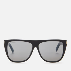 Saint Laurent Men's Square Frame Acetate Sunglasses - Black/Smoke