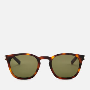 Saint Laurent Women's Square Frame Tortoiseshell Sunglasses - Brown