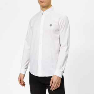 KENZO Men's Casual Fit Poplin Shirt - White