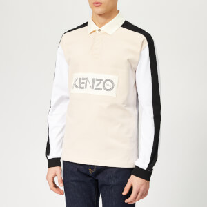 KENZO Men's Chest Logo Rugby Polo Shirt - Cream
