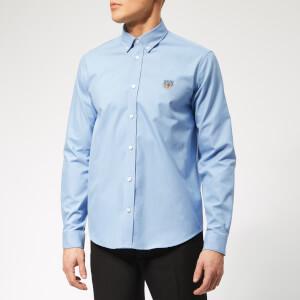 KENZO Men's Tiger Logo Shirt - Sky Blue