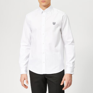 KENZO Men's Tiger Logo Shirt - White