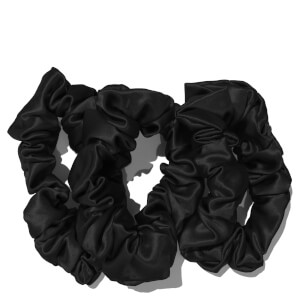 Chouchous Large Scrunchies Slip (lot de 3) – Noir