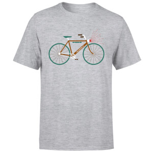 Rudolph Bike Men's Christmas T-Shirt - Grey